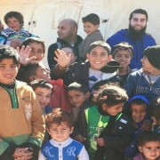 """Today I was with lots of Syrian children who need Your help!"" Pic: Waseem Iqbal"
