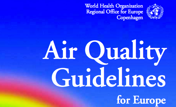 WHO report on European Air Quality Guidelines - click for full report.