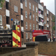 Hackney flat fire. Pic: @999London