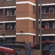 Stamford Hill flat fire. Pic: @999London