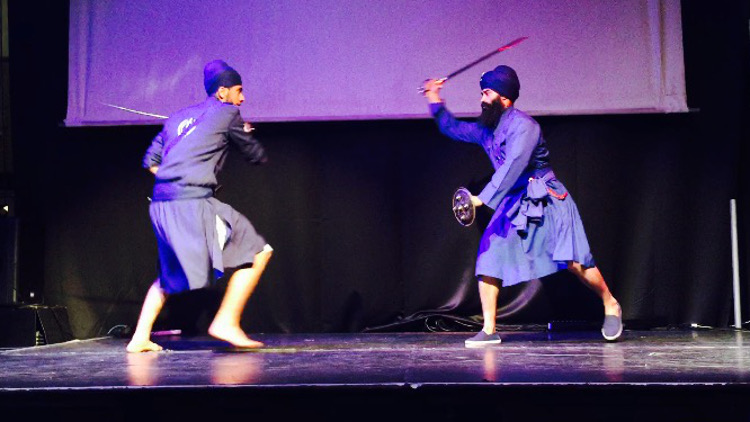 Performers at the Sikh Festival. Pic: Shima Begum