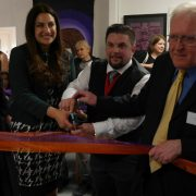 Opening the Studio Upstairs, L-R: Zlatinka Hristova, Director of Studio Upstairs, Luciana Berger MP, Councillor Wayne Trakas-Lawlor, Tony Baks, Chair of Studio Upstairs. Pic: David Cartwright