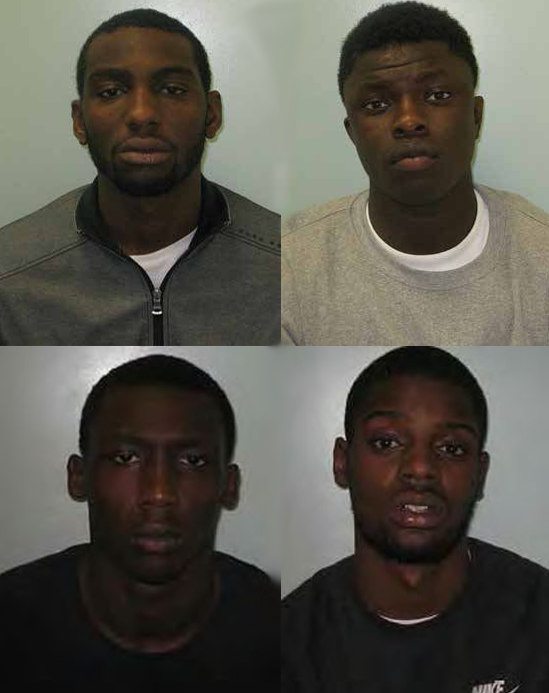 L-R,T-B: Adebayo, Faye, Jalloh, Rogers. Pic: Metropolitan Police