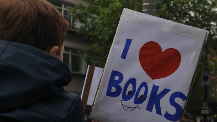 Save Lewisham Libraries protest. Pic: Holly Gazzard