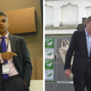 Sadiq Khan, left, is expected to beat Zac Goldsmith to become Mayor