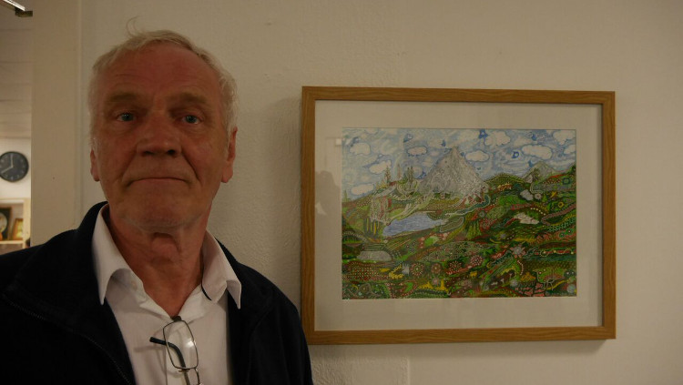 Artist John James Richards, 65. Pic: David Cartwright