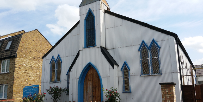 The Tin Tabernacle in Dalston, to be auctioned on June 8