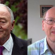 Ken Livingstone and David White. Pic: Antoni Devlin