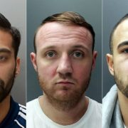 Ajay Singh, Sonny Lockwood and Kurtis Lamptey used sledgehammers and a car to smash into shops and steal phones Pic: Metropolitan Police