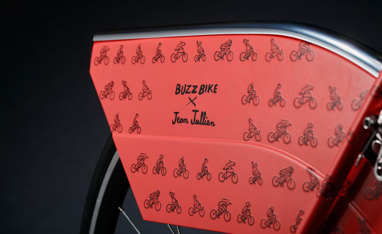 Jean Julien's design for London's new free bike start-up Buzzbike Pic: Buzzbike