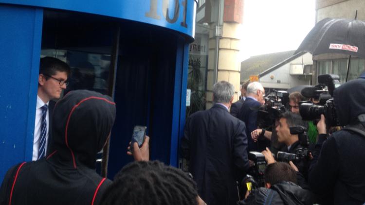 José Mourinho leaves the tribunal. Pic: Eir Nolsøe