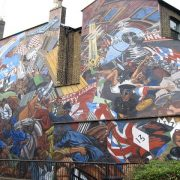 The battle of Cable Street Mural in East End. Pic: Wikimedia Commons