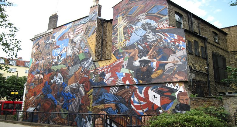 Corbyn to mark anniversary of london 39 s biggest anti facist for Cable street mural