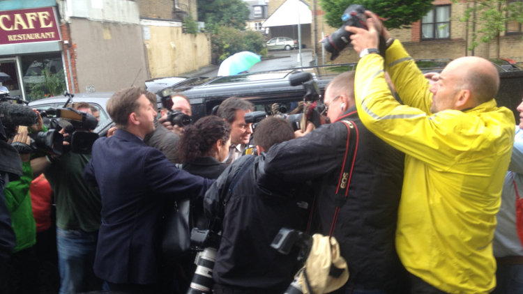 Eva Carneiro leaving the employment tribunal after case with Chelsea/Mourinho was settled. Pic: Eir Nolsøe
