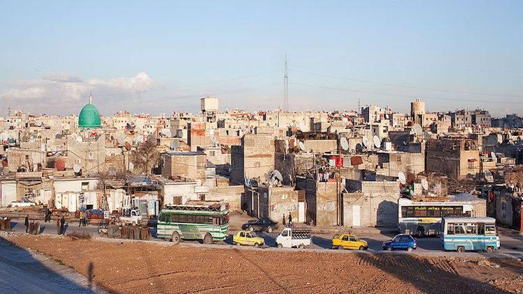 Skyline of Jaramana, Syria. Pic: Anobel Odisho