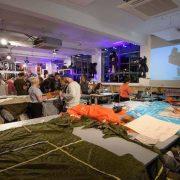 DIY Parachute Tote Bag workshop. Pic: Christopher Raeburn
