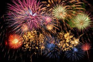 Fireworks across Hackney