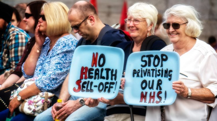 A 2014 NHS protest. Pic: Garry Knight
