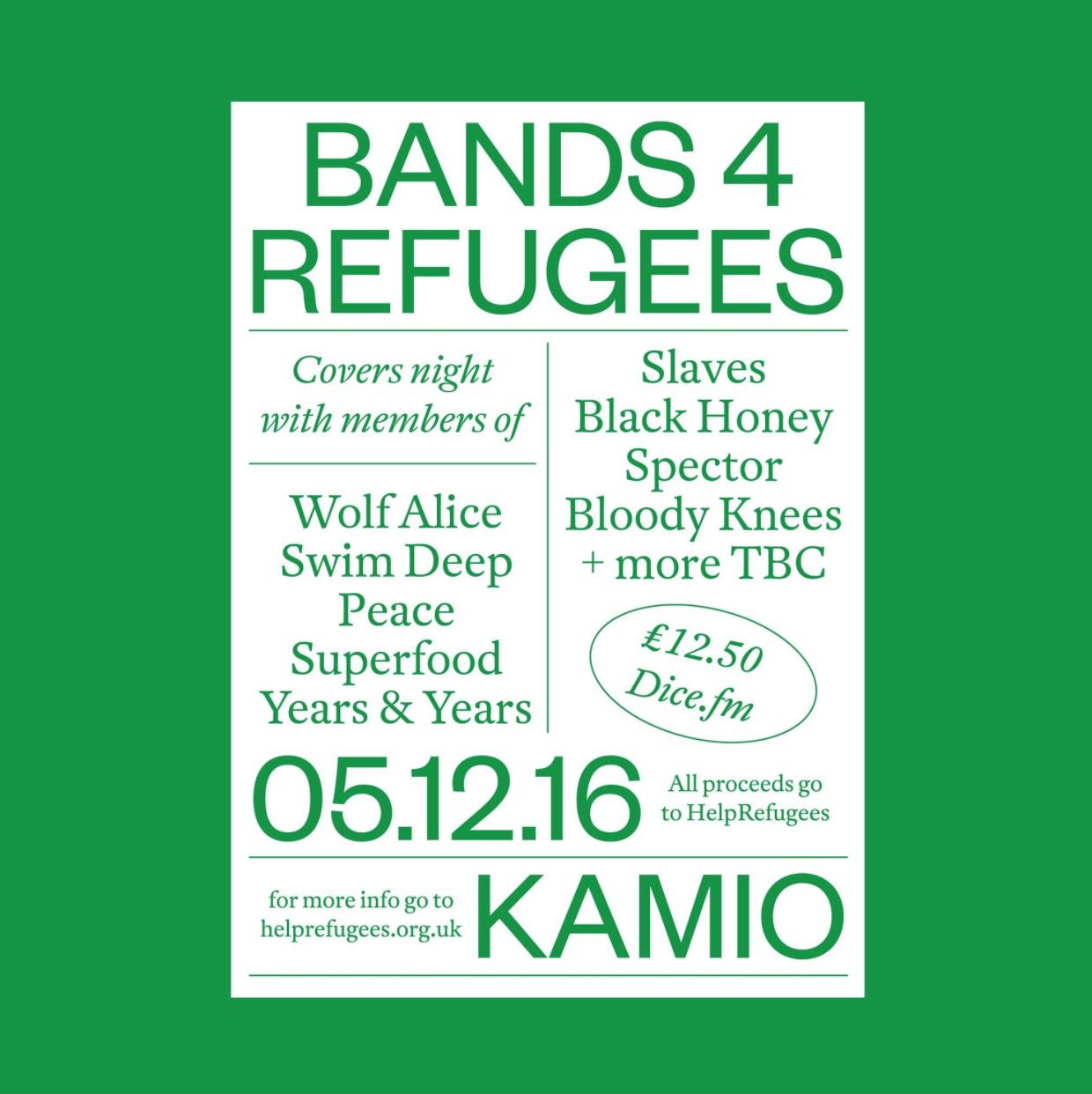 Band 4 Refugees poster. Pic: Cady Siregar