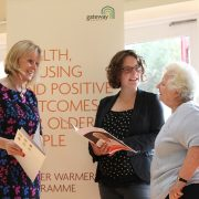 Cllr Amy Whitelock Gibbs at the Winter Warmer's launch.