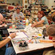 Homerton patients at an art workshop