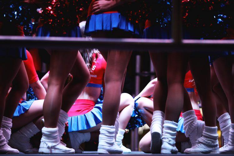 CPFC cheerleader The Crystals. Pic: Anastasia Shub