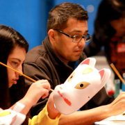 Craft artists at Hyper Japan's Christmas market. Pic: HYPER JAPAN