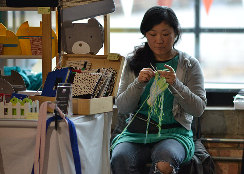 Vendor at The Crafty Fox Market in Hackney. Pic: Yutian He.