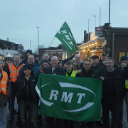 Southern strike action was solid on the second day. Pic: RMT