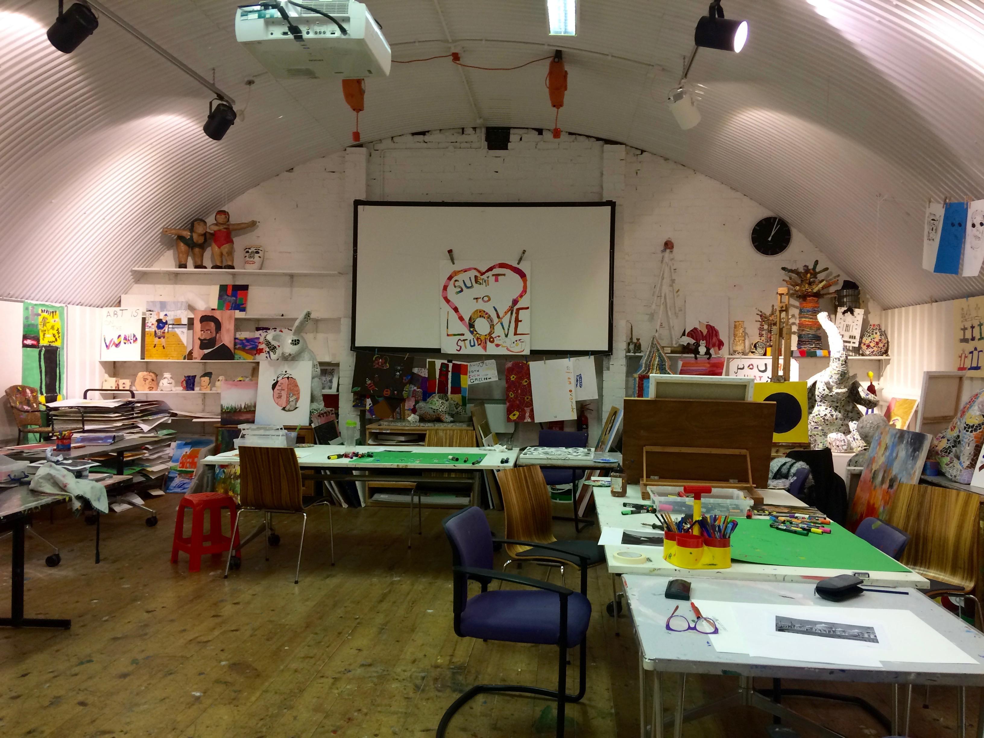 Art studio run by Headway East London | Eastlondonlines