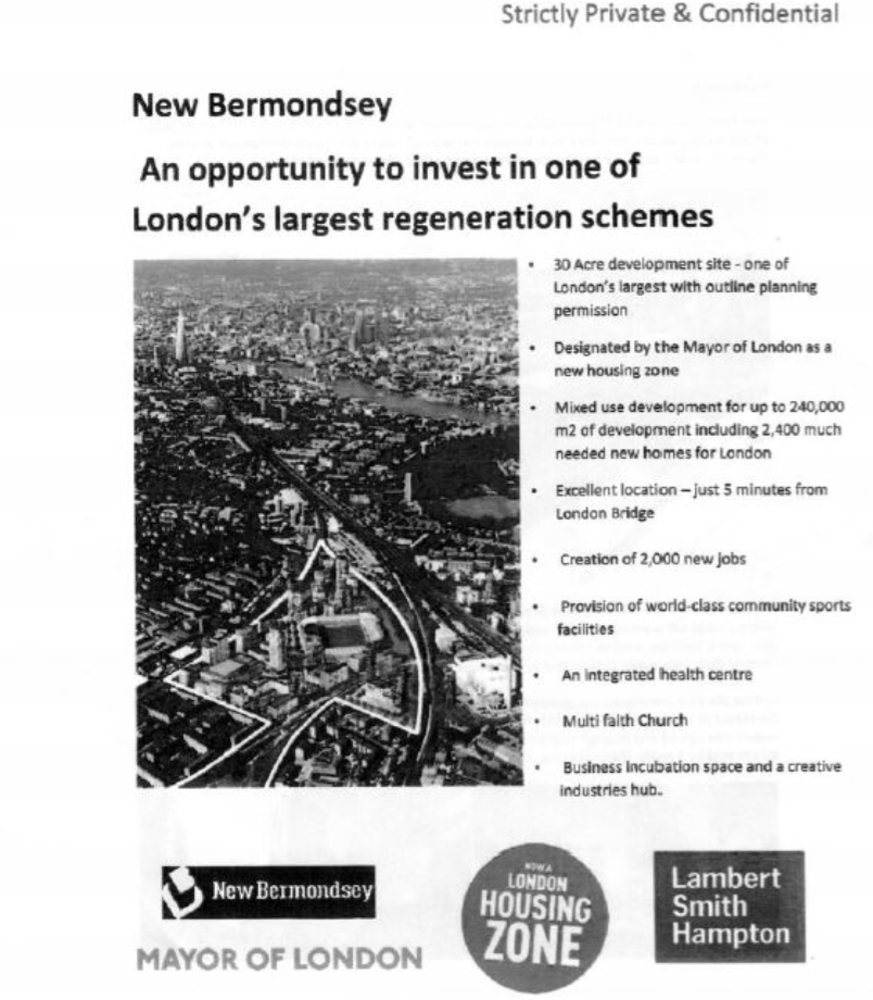 The first page of the brochure. Pic: Lewisham Council
