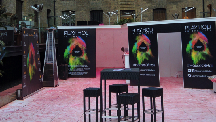 A temporary party pod was set-up outside the restaurant to host guests. Pic; Yuvan Kumar