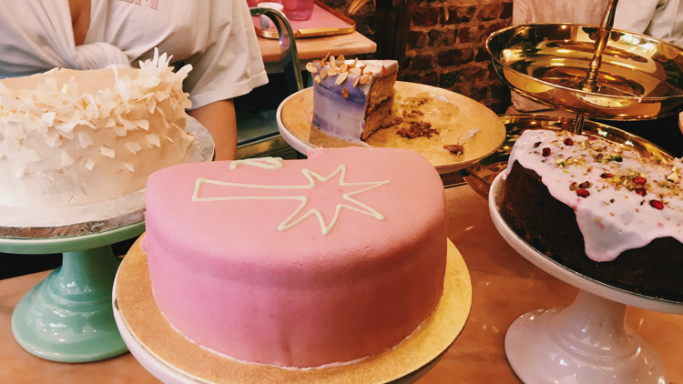 Cakes on offer at Palm Vaults. Pic; Holly Patrick.