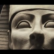Close up of the digitally created sphinx. Pic; Patrick Hough.