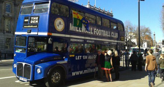 Millwall Supporters Bus. Pic; sarflondondunc (flickr)