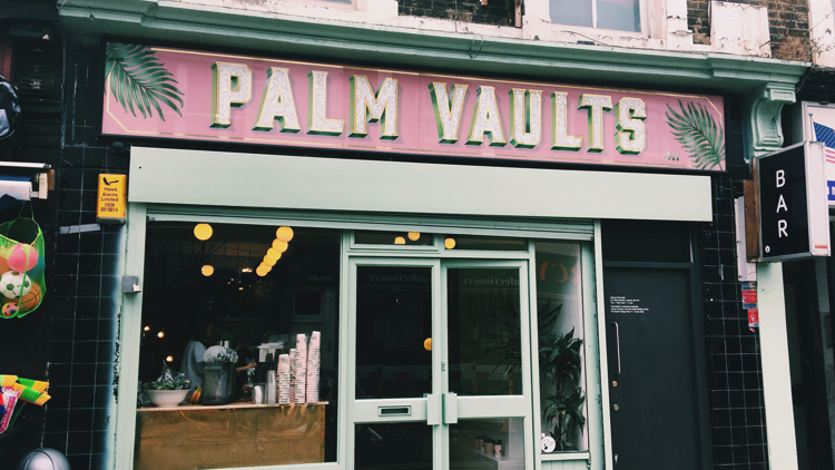 Palm Vaults' entrance. Pic; Holly Patrick.