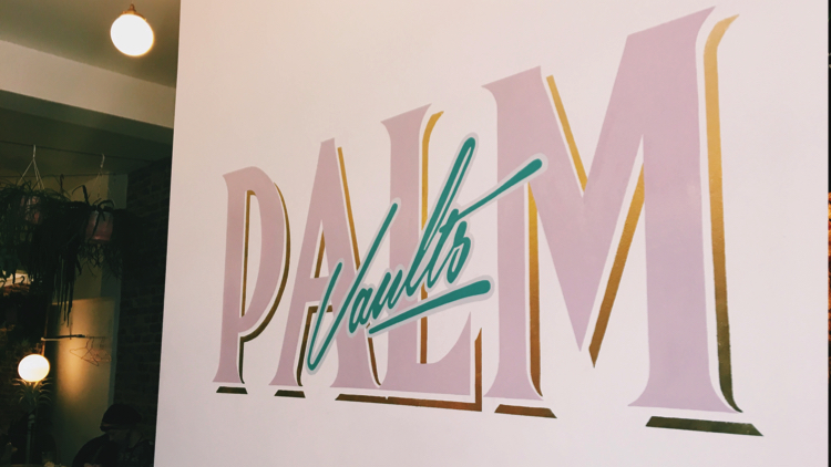 Palm Vaults' logo. Pic; Holly Patrick.