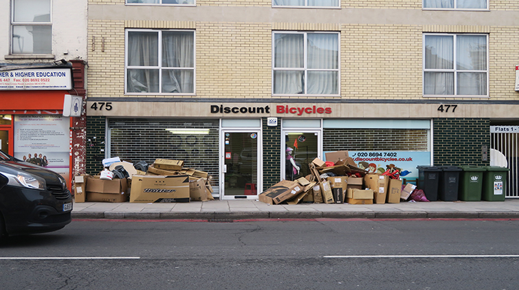 The former site of Discount Bicycles. Pic; Harry Ashman
