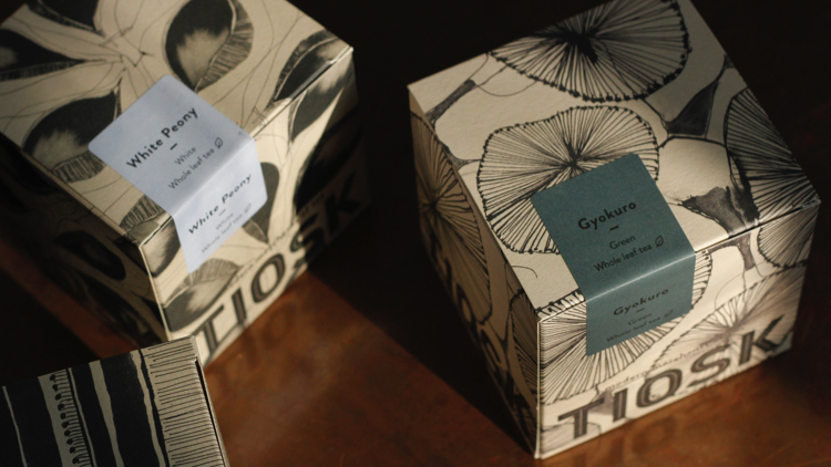 Tiosk custom packaging. Pic; Natasha Kelly at Tiosk.