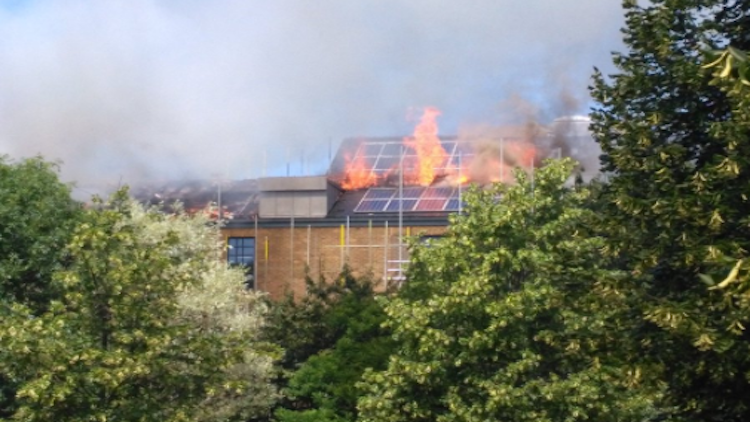 Huge blaze engulfs brand new block of £1million flats in East London