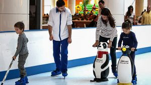 ice rink, croydon, family, happiness, penguin