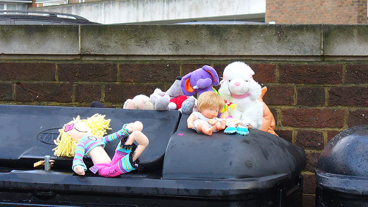 recycling, toys, christmas, hackney