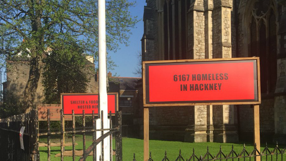 Signs outside St' Mary Church