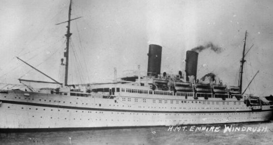 HMS Empire Windrush. Pic: Royal Navy Official Photographer
