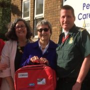 The 'Red Bag' scheme was implemented in May, and has now reached every care home in Lewisham, Pic: Chris Best