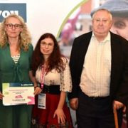 From left to right Phil Huggon from Healthwatch England with Healthwatch Tower Hamlets staff Dianne Barham, Raluca Enescu, David Burbidge and Darren Morgan