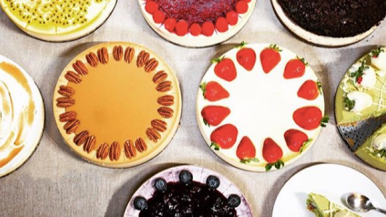 An array of delicious cheesecakes you can have sent to your door.