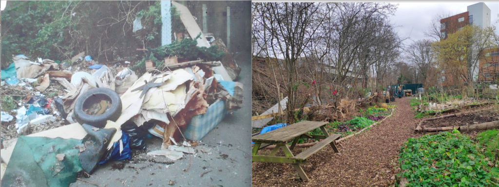 Before/After: the garden in 2008 vs today Pic: Frensbury Gardens (left), Bertille Duthoit (right)