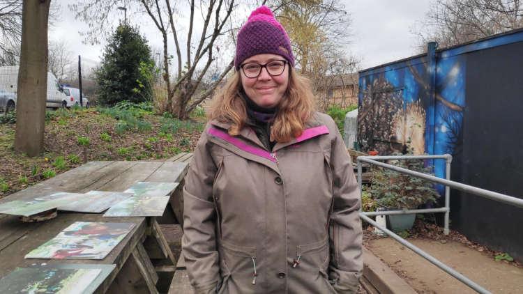 Ema Felix, 42, volunteer at the garden. Pic: Bertille Duthoit