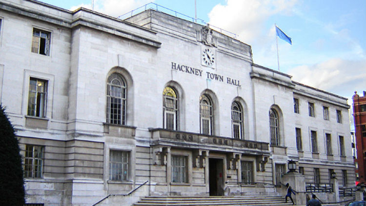 Hackney town hall, Mare Street, Hackney, London